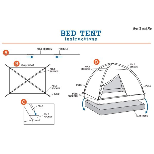 Pacific Play Tents Flower Bed Tent Instructions