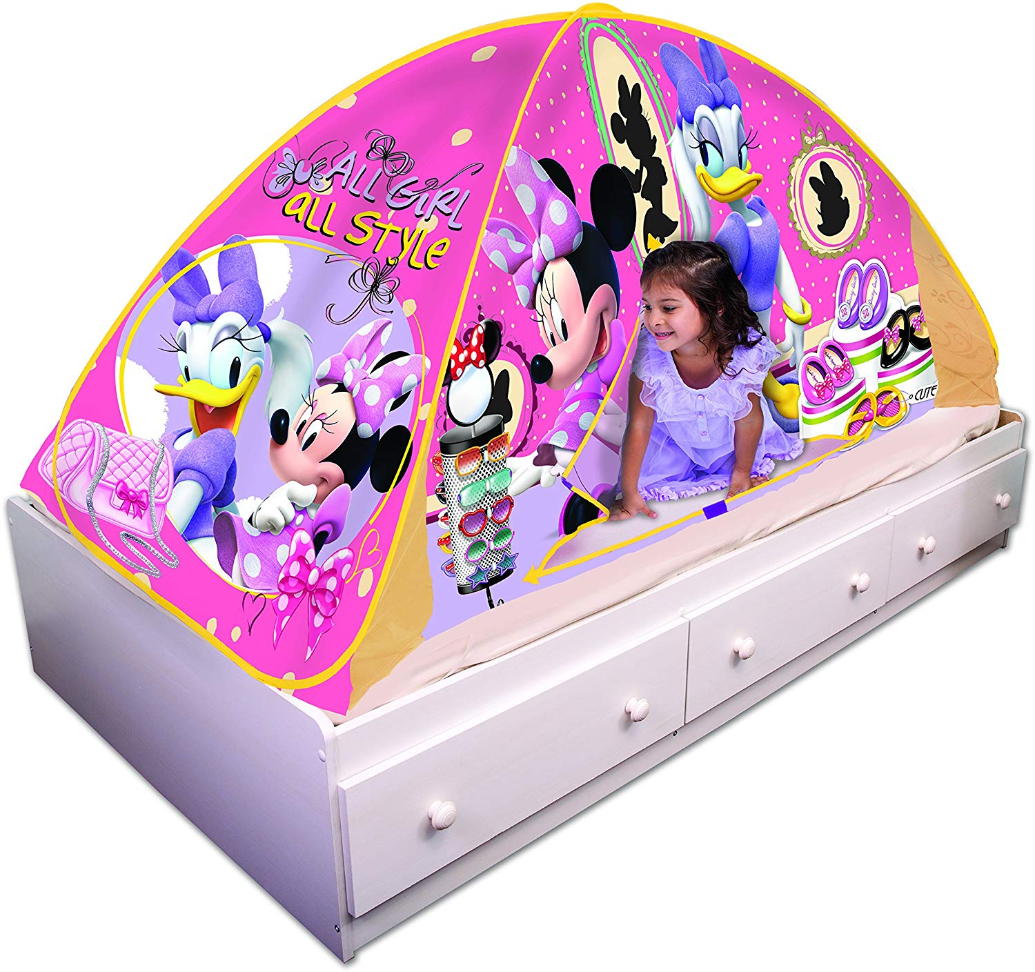 sale retailer f595e 7374f Playhut Disney Minnie Mouse Bed Tent Playhouse - Bed Tent ...